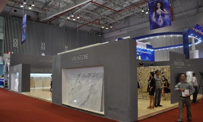 Vẻ đẹp ấn tượng của gian hàng Vinastone tại Triển lãm Vietbuild Hồ Chí Minh 2014